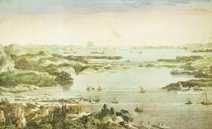 Vista óptica do Helesponto em Constantinopla - Istanbul (Turquia)