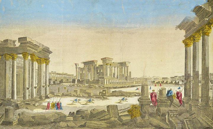 Veduta ottica di Palmira (Siria)
