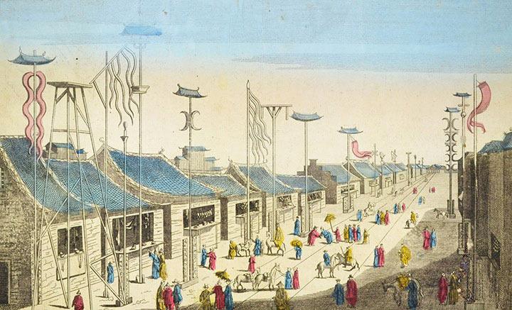 Opticaprent van Nanjing (China)