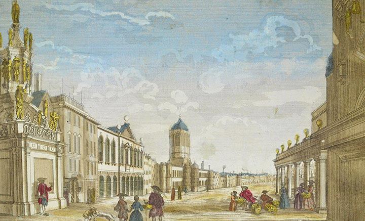 Veduta ottica del Municipio di Oxford (Inghilterra)