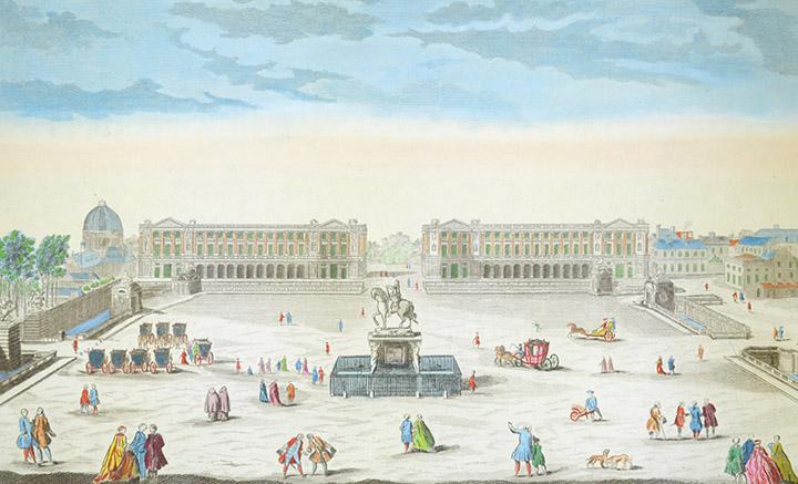 Optical view of the Place de la Concorde in Paris (France)