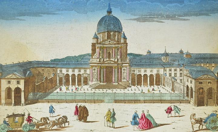 Vista óptica de l'Iglesia de Val-de-Grâce en Paris (Francia)