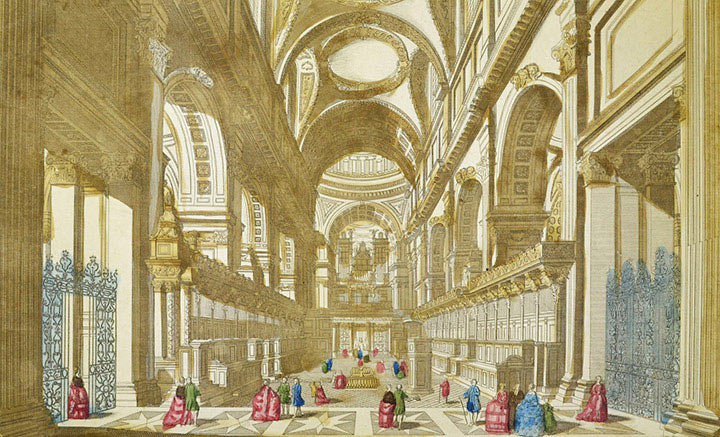 Optical view of the Choir of St Paul's Cathedral in London (England)
