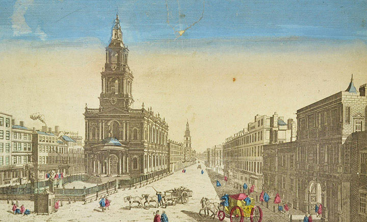 Optical view of the Seville Cathedral (Spain)