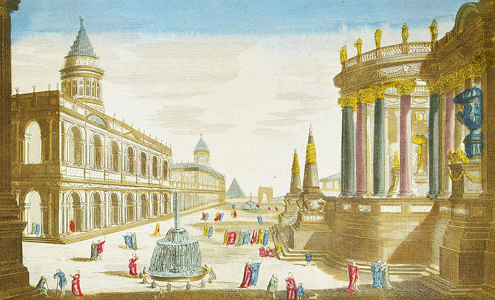 Optical view of ancient Rome (Italy)