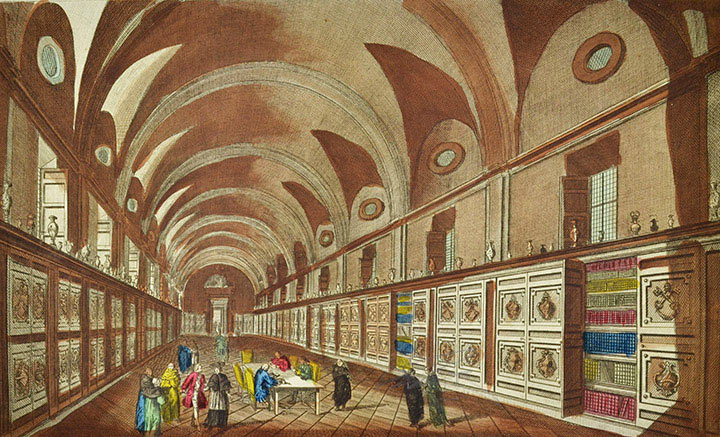 Optical view of the Vatican Library (Vatican City)