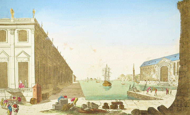Optical view of the Port of Dunkirk (France)