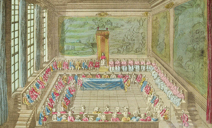 Optical view of the General Assembly of the States of Languedoc in 1761