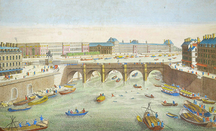 Optical view of the Pont Neuf in Paris (France)