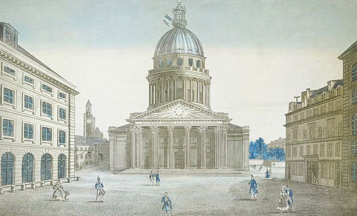 Optical view of Pantheon in Paris (France)