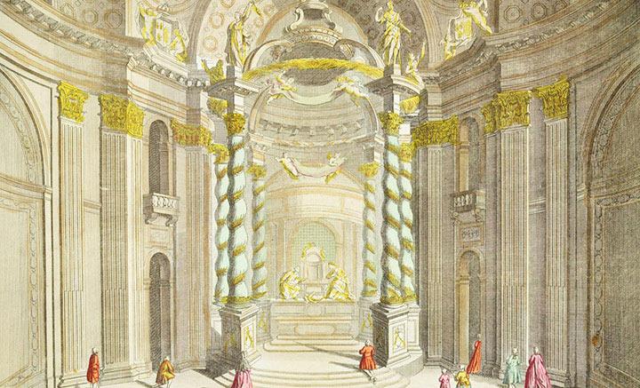 Optical view of the Altar of Val-de-Grâce Church in Paris (France)