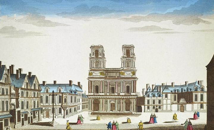 Optical view of the Saint Eustache Church in Paris (France)