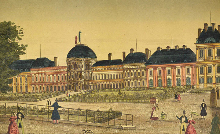 Optical view of the Tuileries Palace in Paris (France)