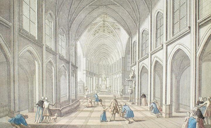 Optical view of Saint-Merri Church in Paris (France)