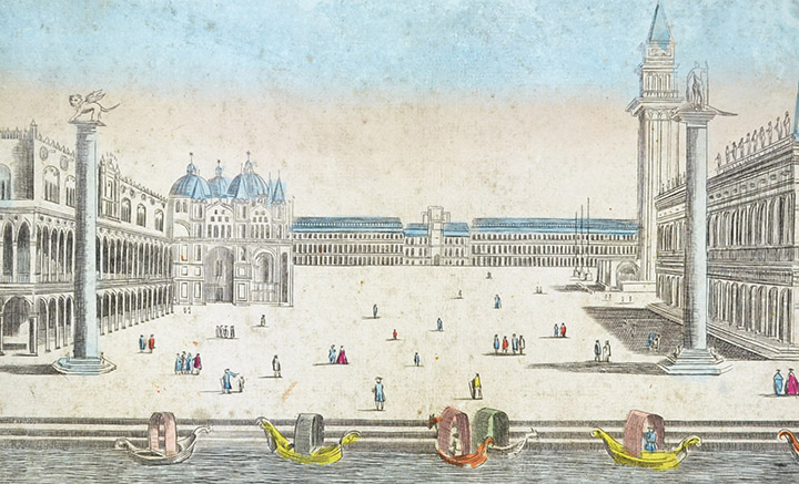 Optical view of the St Mark's Square in Venice (Italy)