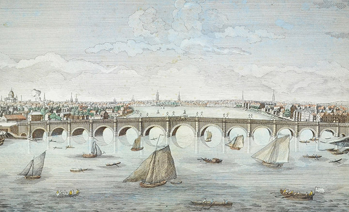 Optical view of Westminster Bridge in London (England)