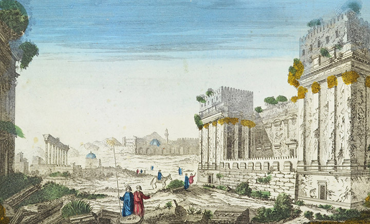 Optical view of the Temple at Baalbek (Lebanon)