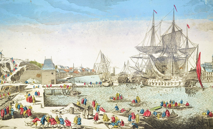 Optical view of the Port of Brest - Brittany (France)