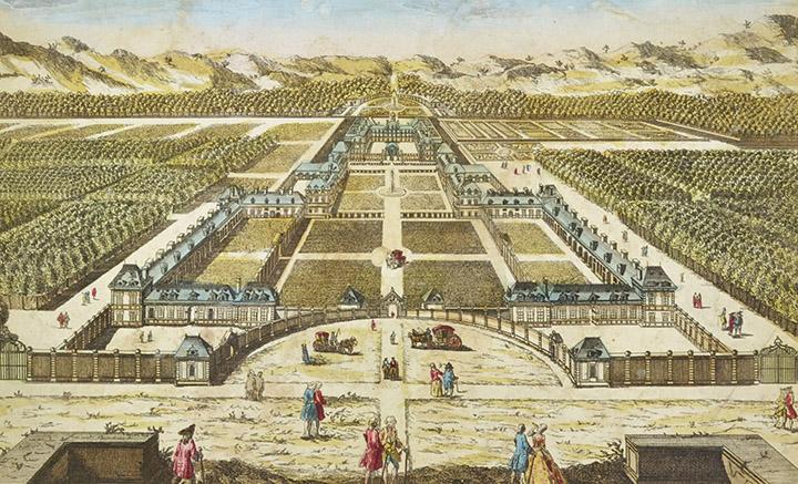 Optical view of Château de Richelieu - Poitou (France)
