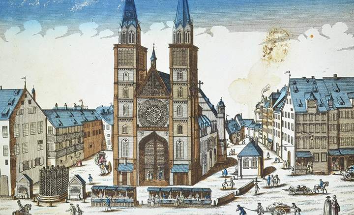 Optical view of St. Lawrence's Church - Nuremberg (Germany)