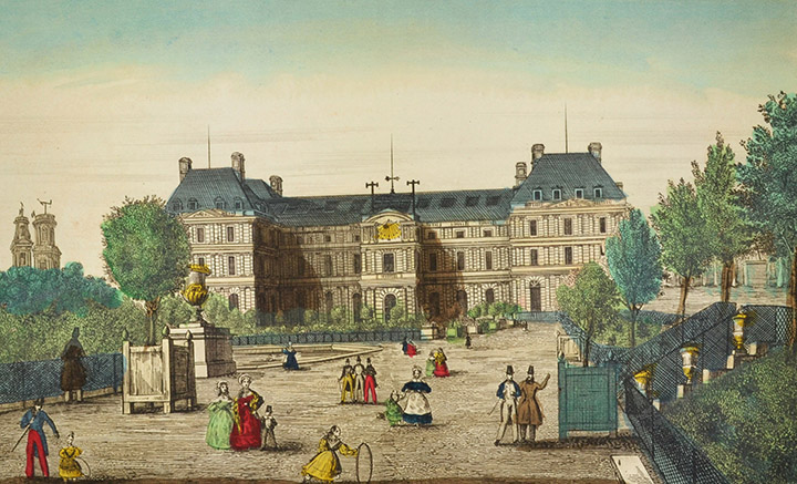 Optical view of Luxembourg Palace - Jardin du Luxembourg - Paris (France)