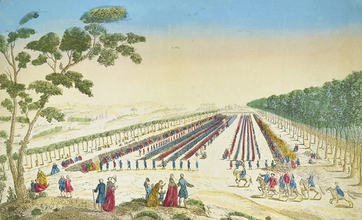 View of the Revue de la Maison du Roi - Plaine des Sablons (France)