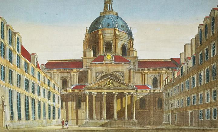 Optical view of the Sorbonne - Paris (France)
