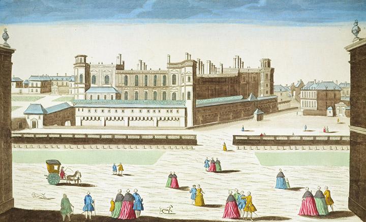 Optical view of the Palace of Saint-Germain-en-Laye (France)