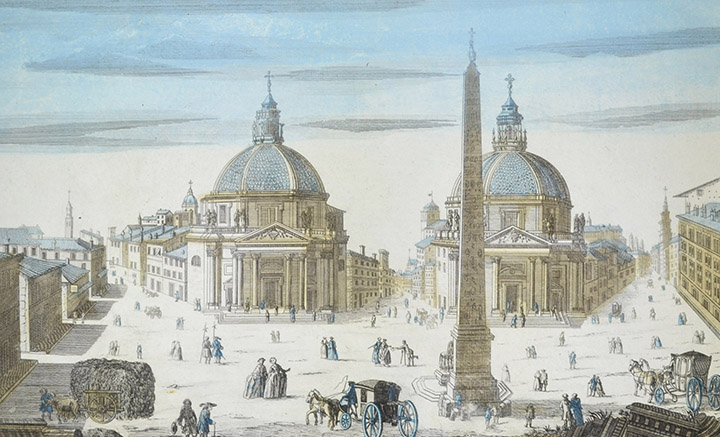 Optical view of Piazza del Popolo - Rome (Italy)