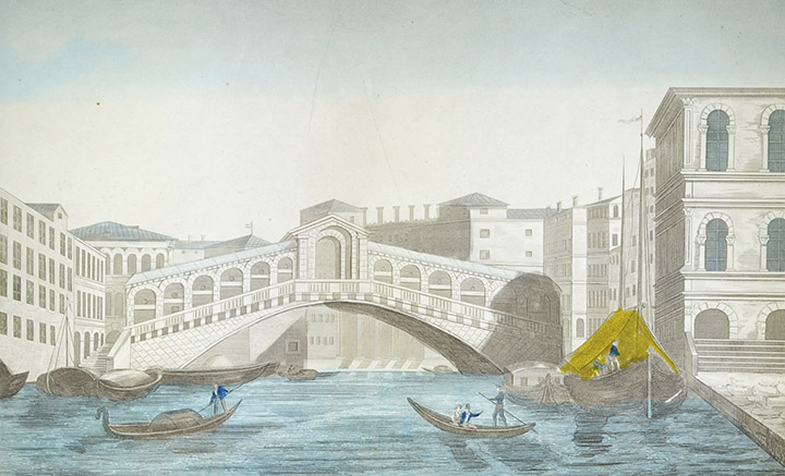 Optical view of Ponte di Rialto - Venice (Italy)