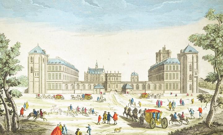 Optical view of the Château de Vincennes (France)