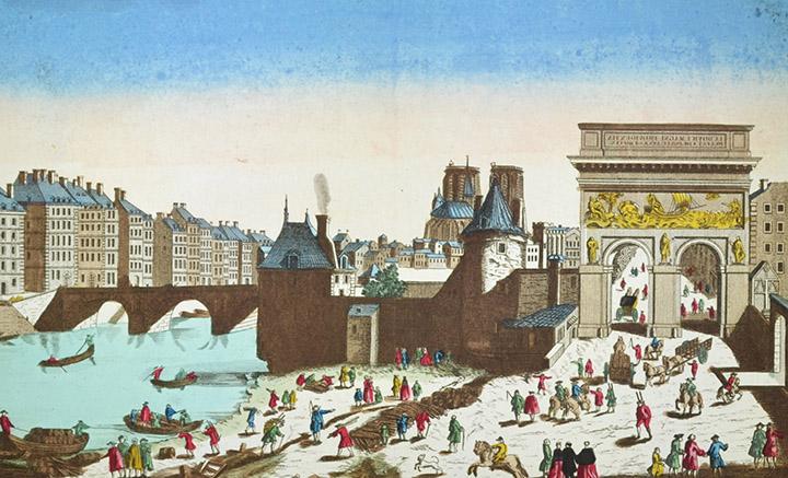 Vista óptica de la Porte Saint-Bernard en Paris (Francia)