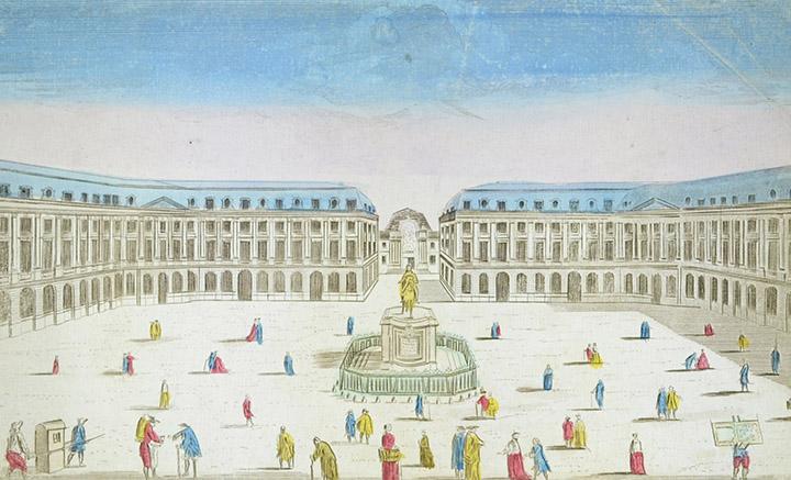 Optical view of the Place Vendôme at Paris (France)