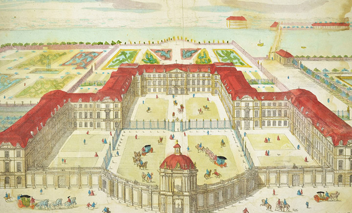 Optical view of Royal Palace in Potsdam (Germany)