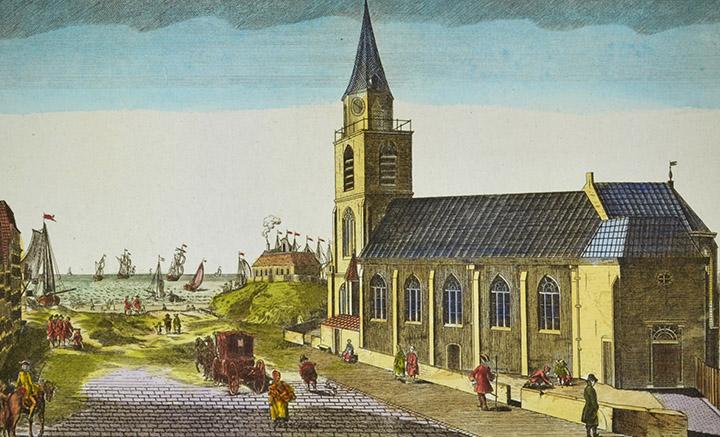 Optical view of Port of Scheveningen near The Hague (Holland)