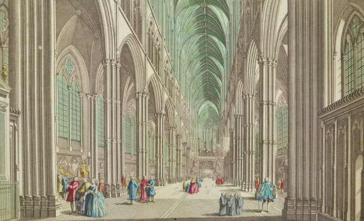 Optical view of Westminster Abbey in London (England)