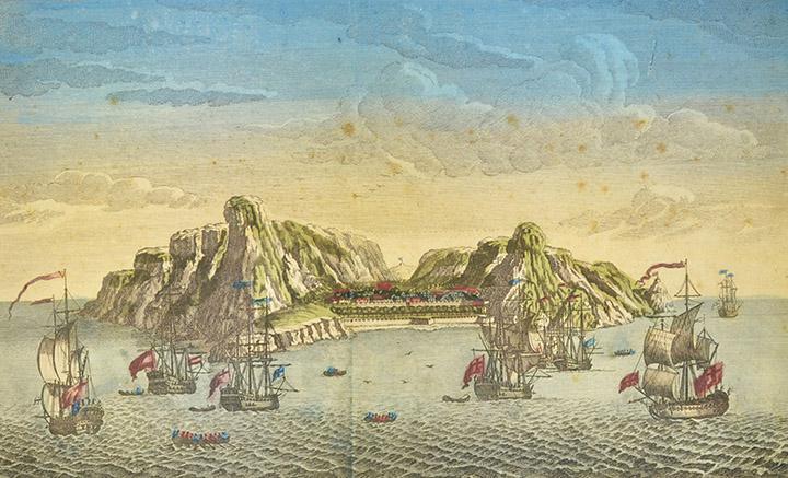 Optical view of the Island of St. Helena (United Kingdom)