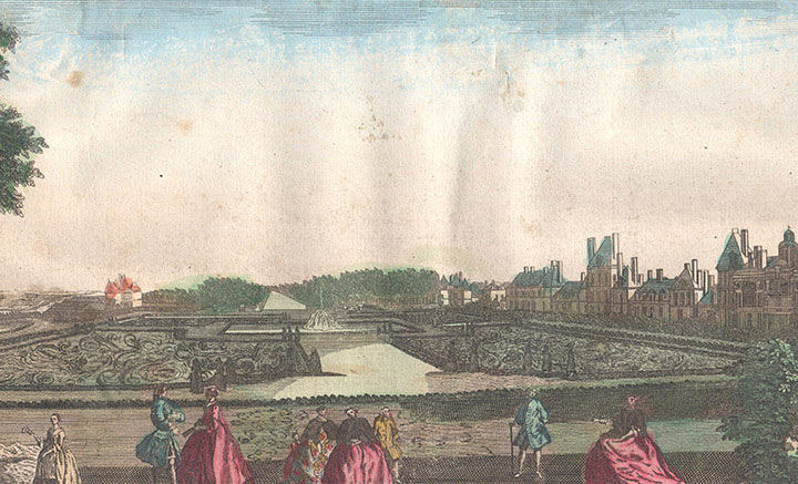 Optical view of the Palace of Fontainebleau (France)