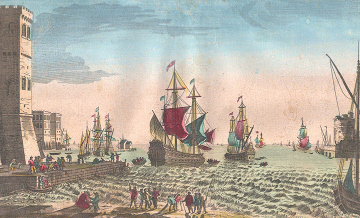 Optical view of the Port of Jersey (Channel Islands)