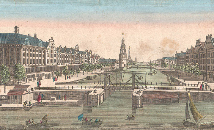 Optical view of Amsterdam (Holland)