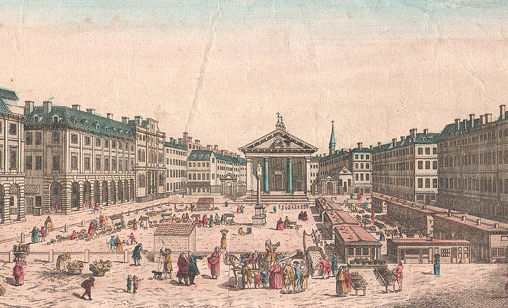 Optical view of Covent Garden in London (England)