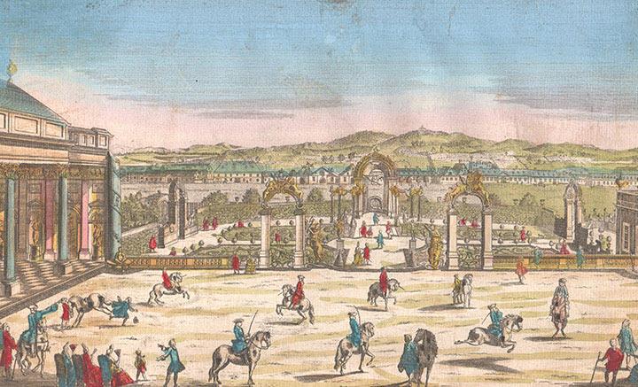 Optical view of Garden of Count of Par in Vienna (Austria)