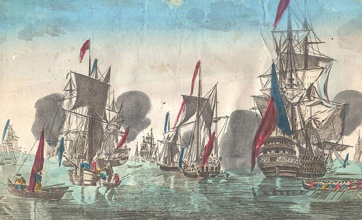 Optical view of sailboats