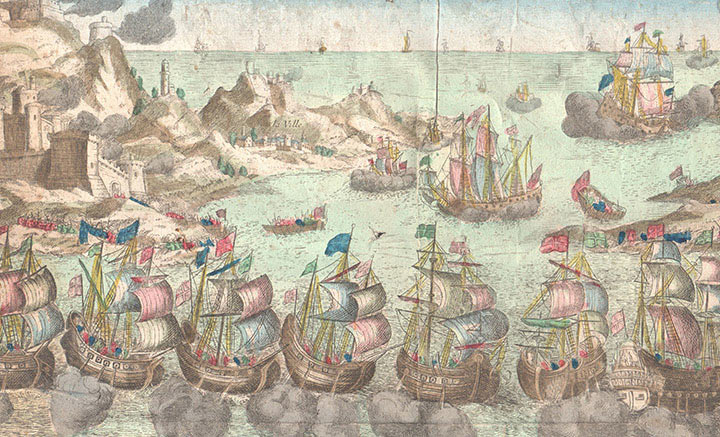 Optical view of a naval Combat