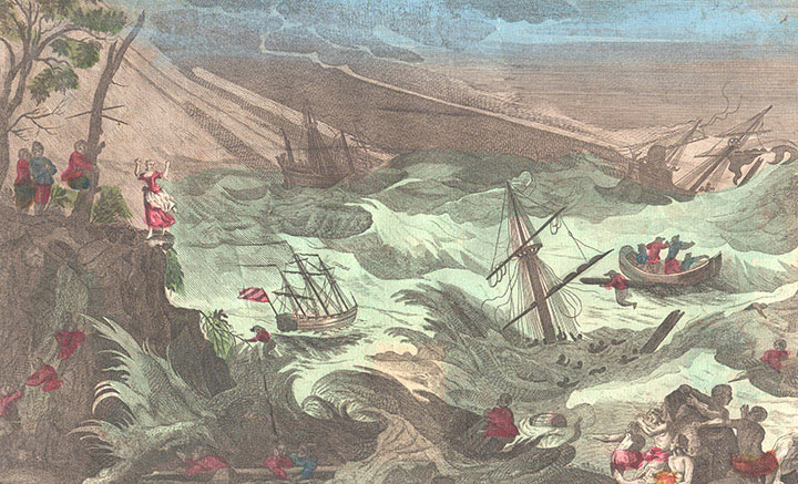 Optical view of the Shipwreck of the austrian prisoners in the Baltic sea