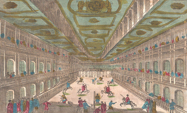 Optical view of Tournaments in the residence of the Duke of Bavaria (Germany)