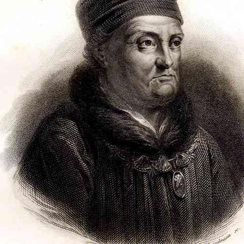 Intaglio print | 1835 | Portrait of René of Anjou - Good King René (1409-1480)
