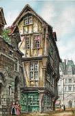 View of Rouen - La Rue Saint-Romain (France)