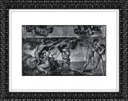 Chapelle Sixtine - Le P�ch� Originel - Adam et �ve au Paradis Terrestre (Michel-Ange)