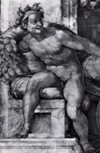 Sistine Chapel - Male Nude - Decorative Figure (Michelangelo)